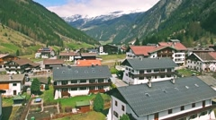 Small Maountain Village Aerial FHD - stock footage
