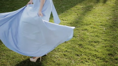 Waving dress Stock Footage