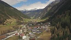 Austrian Village Aerial 4k Stock Footage