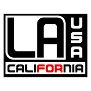 Los Angeles city Typography Graphic red Stock Illustration