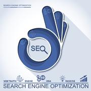 Perfect search engine optimization - stock illustration