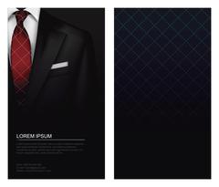 Suit vector background with tie Stock Illustration
