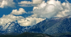4K, Time Lapse, Mountain Range at Urtaca, Corsica Stock Footage