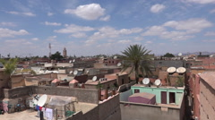View over the rooftops of Marrakesh Morocco. Stock Footage