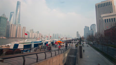 Shanghai harbour passenger terminal time lapse Stock Footage