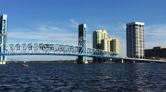 4K UltraHD Video of Jacksonville and the St. Johns River Stock Footage