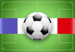 France Flag and Championship of football Stock Illustration