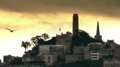 Telegraph Hill in San Francisco. 4K Broadcast Quality Stock Footage