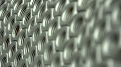 Closeup of two metal cog gears - stock footage