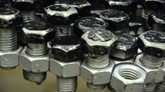 Bolt joined in a combination gears. - stock footage