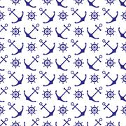 Seamless nautical pattern - stock illustration