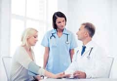 Stock Photo of doctor and patient in hospital