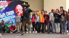 Young guy dancing rap, break. 4K. Stock Footage