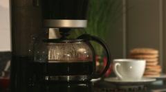 Fresh Breakfast Coffee Jug In Kitchen - stock footage