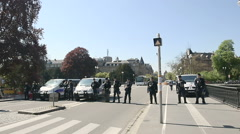 French police at protest Stock Footage