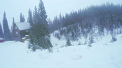 Ski resort in mountains - stock footage