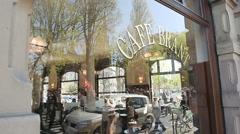 Brant Cafe Strasbourg Stock Footage