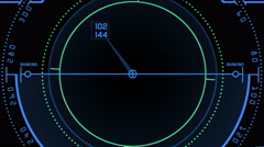 4k Radar GPS signal tech screen display,science sci-fi data computer navigation Stock Footage