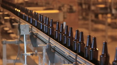 Bottle manufacturing technology in industrial factory. Glass recycling. Movement Arkistovideo
