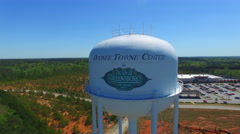 Lake Oconee Water Tower Fly over Stock Footage
