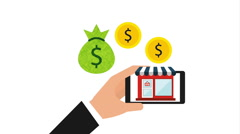 electronic commerce , video animation - stock footage