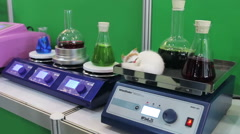 Medical and laboratory equipment at the exhibition Stock Footage