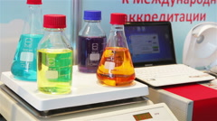 The 14th International Exhibition of laboratory equipment and chemical Stock Footage
