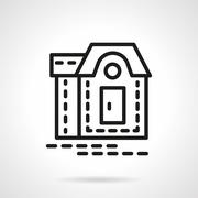 Mansion black line vector icon Stock Illustration