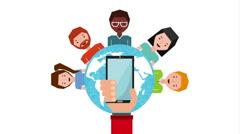 social media, video animation - stock footage