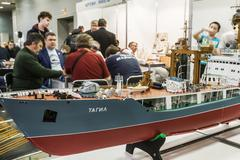 Exhibition of radio controlled models, boats, locomotives, cars, etc. Stock Photos