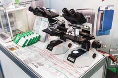 Medical equipment at the exhibition Stock Photos