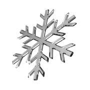 Isolated gray glass snowflake on white Stock Illustration