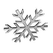 Isolated glass snowflake - stock illustration