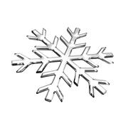 Isolated glass snowflake Stock Illustration