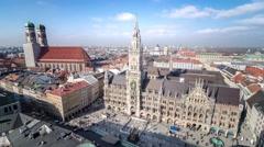Panorama of Munich - 4K time lapse Stock Footage