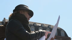 April protest against Labor reforms in France - stock footage