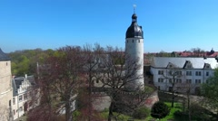 Altenburg castle tower, Germany Stock Footage