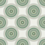 Seamless background with tribal style circles - stock illustration