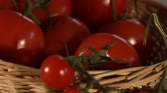 Basket Of Fresh Vine Tomatoes In Kitchen 4K Stock Footage