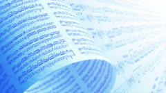 A Collection of High Quality Music Notes Texture, Background LOOP. Stock Footage