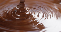 Dark melted chocolate flow Stock Footage