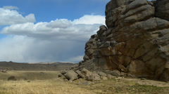 Mountain landscape in the desert Stock Footage