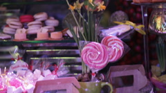 Dessert table on party - stock footage