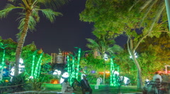 Newly opened Dubai Glow Garden timelapse is a state of Art architecture Stock Footage