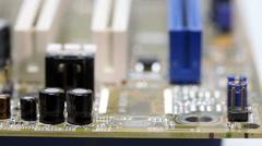 Part of microcircuit closeup Stock Footage