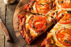 Homemade Vegan Cauliflower Crust Pizza Stock Photos