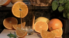 Pouring A Glass Of Fresh Orange Juice 4K Stock Footage