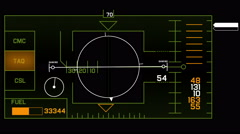 4k Radar GPS signal tech screen display,science sci-fi data computer navigation - stock footage