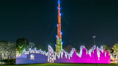 Newly opened Dubai Glow Garden day to night timelapse is a state of Art Stock Footage