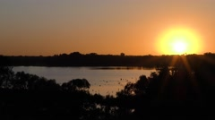 Sunrise Over Wetland by Murray River in Australia Stock Footage